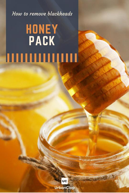 how to remove blackheads honey