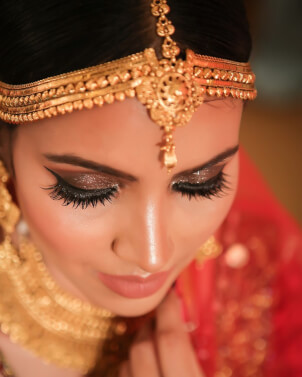 bridal makeup, wedding makeup, eye makeup