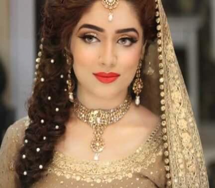 bridal makeup, bridal hair, braids, makeup