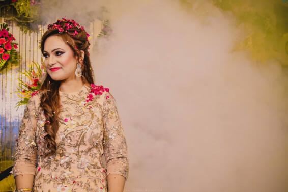 coloured hair, bridal hair, bridal makeup