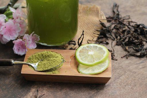lemon juice and tea powder for foot