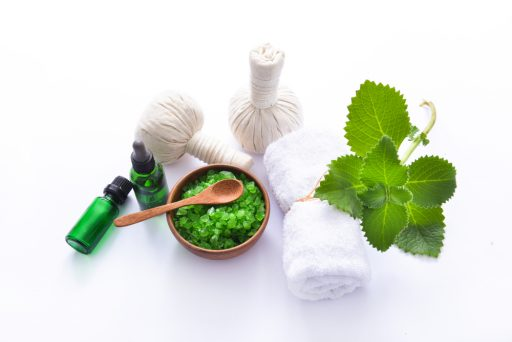 tea tree and mint for foot scrub