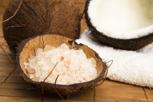 coconut salt for foot scrub