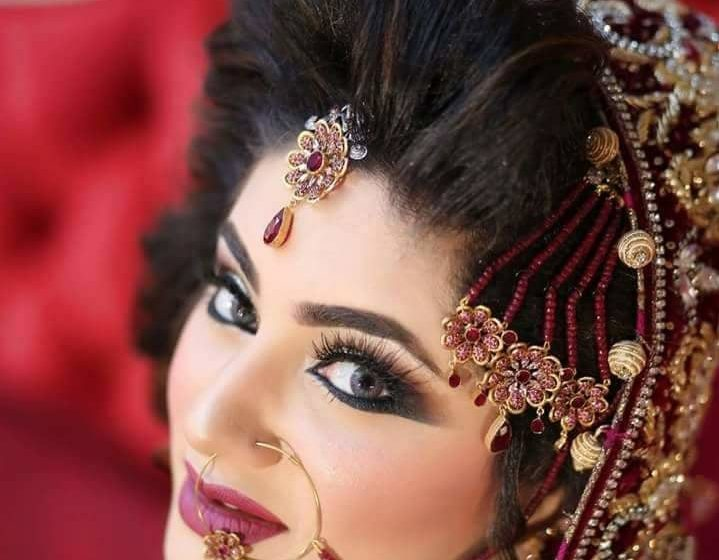 bridal makeup ,eye makeup
