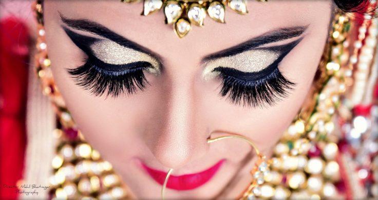 bridal makeup, bold eye makeup, bold makeup