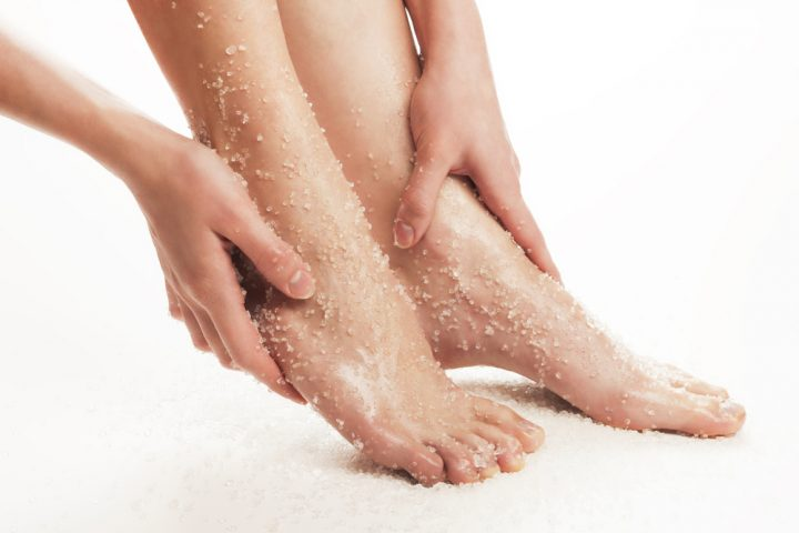 homemade foot scrub for tan removal