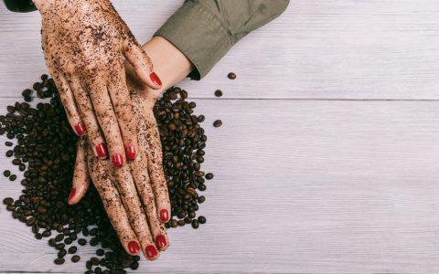 homemade manicure scrub