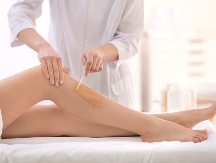 Waxing legs salon
