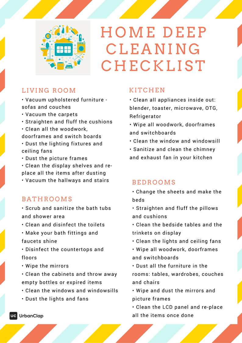 Home Cleaning Checklist