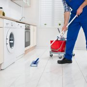House Cleaning with a mop