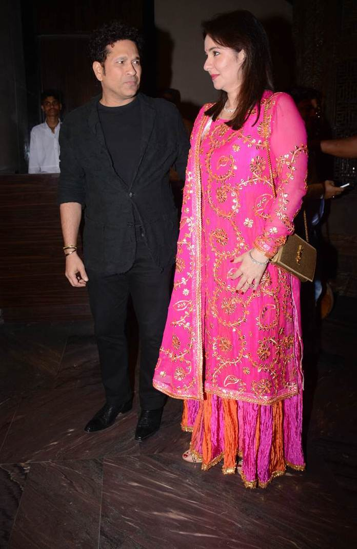Sachin at Sagarika Ghatge Wedding