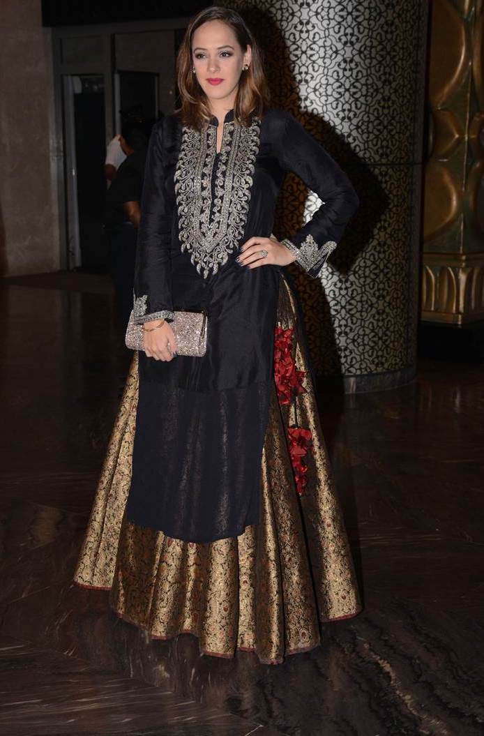 Hazel Keech at Sagarika Ghatge Wedding