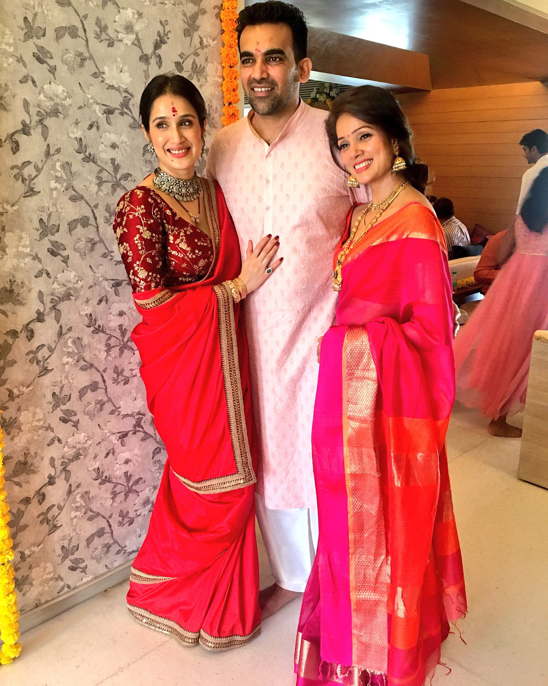 Sagarika Ghatge Red Sabyasachi Wedding Saree