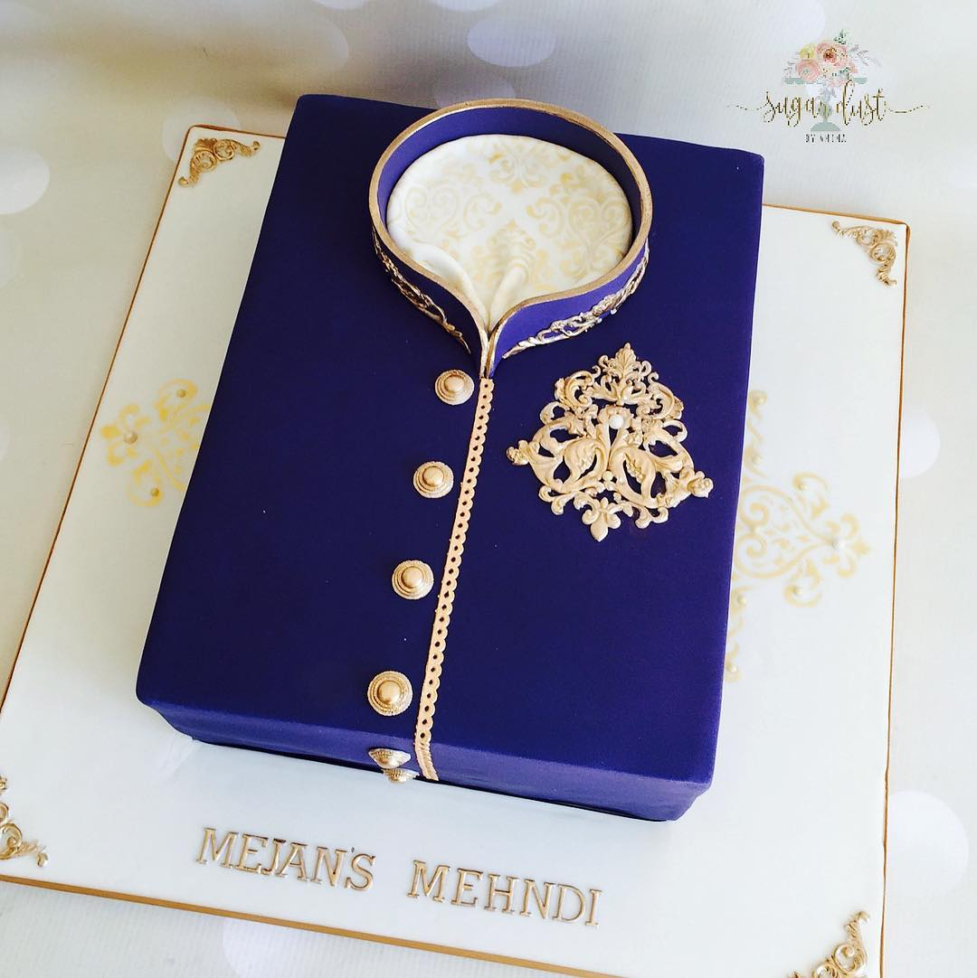 Mehendi Cake Design Idea