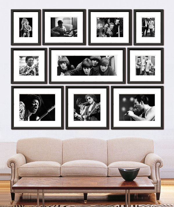 Black And White Photos On Wall