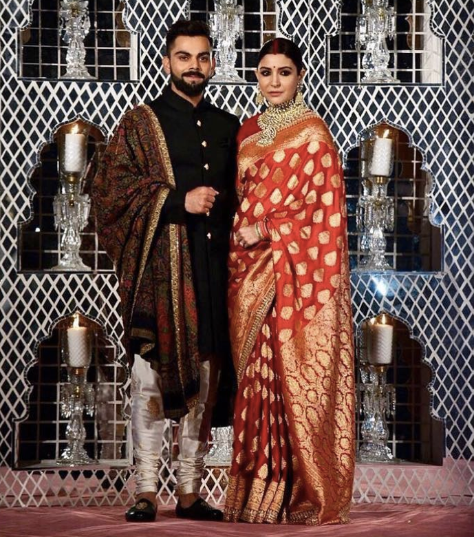 Virat Kohli Wedding.Best Dressed Celebs At Virat Kohli Anushka Sharma Wedding Receptions