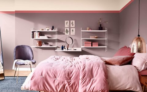 bedroom in heartwood colour