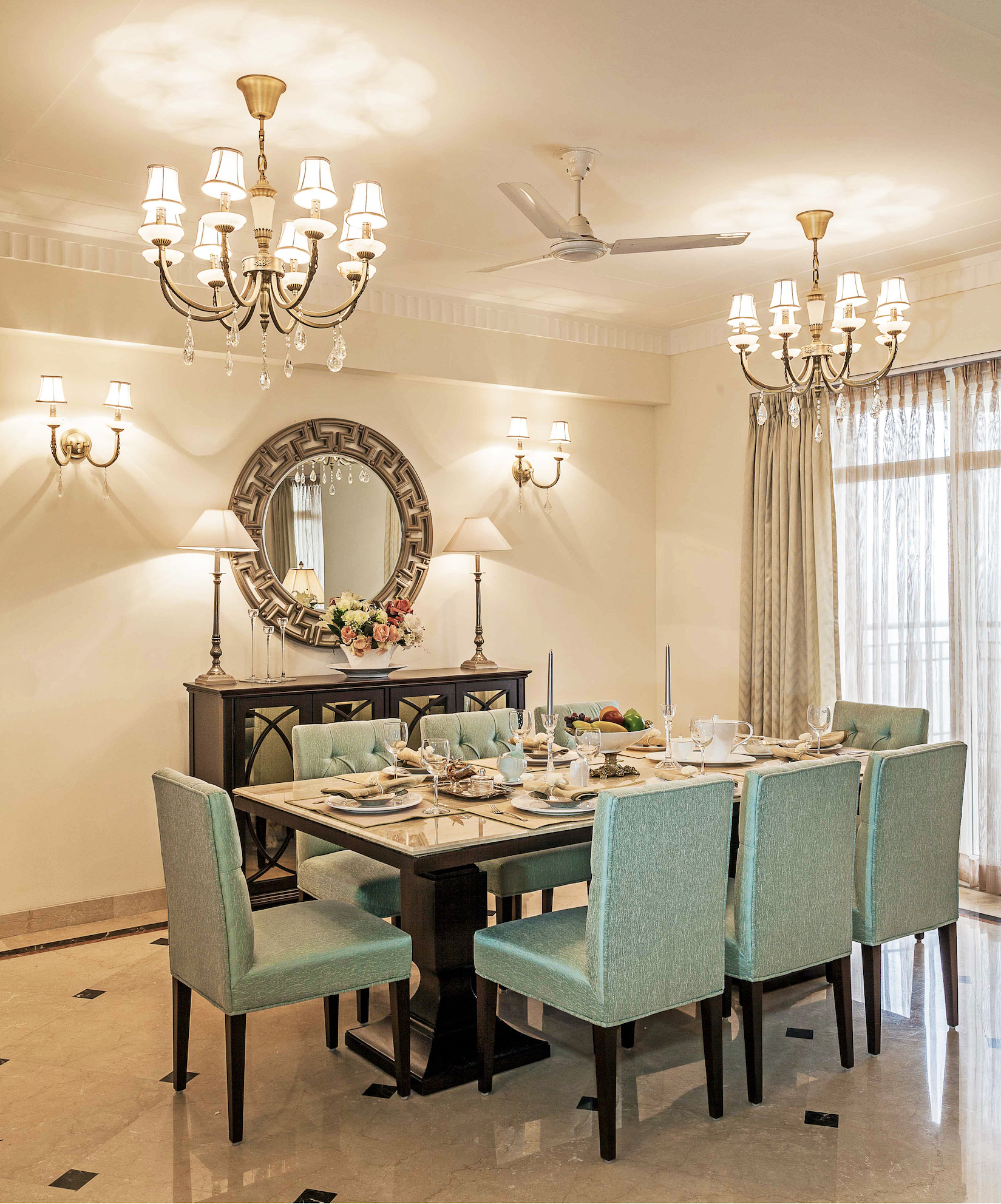 Transitional Dining Room Design Ideas: House Tour: Inside A Delhi 4BHK With Timeless Transitional