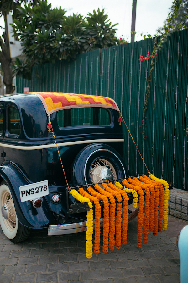 Wedding Car decoration- Vintage Car