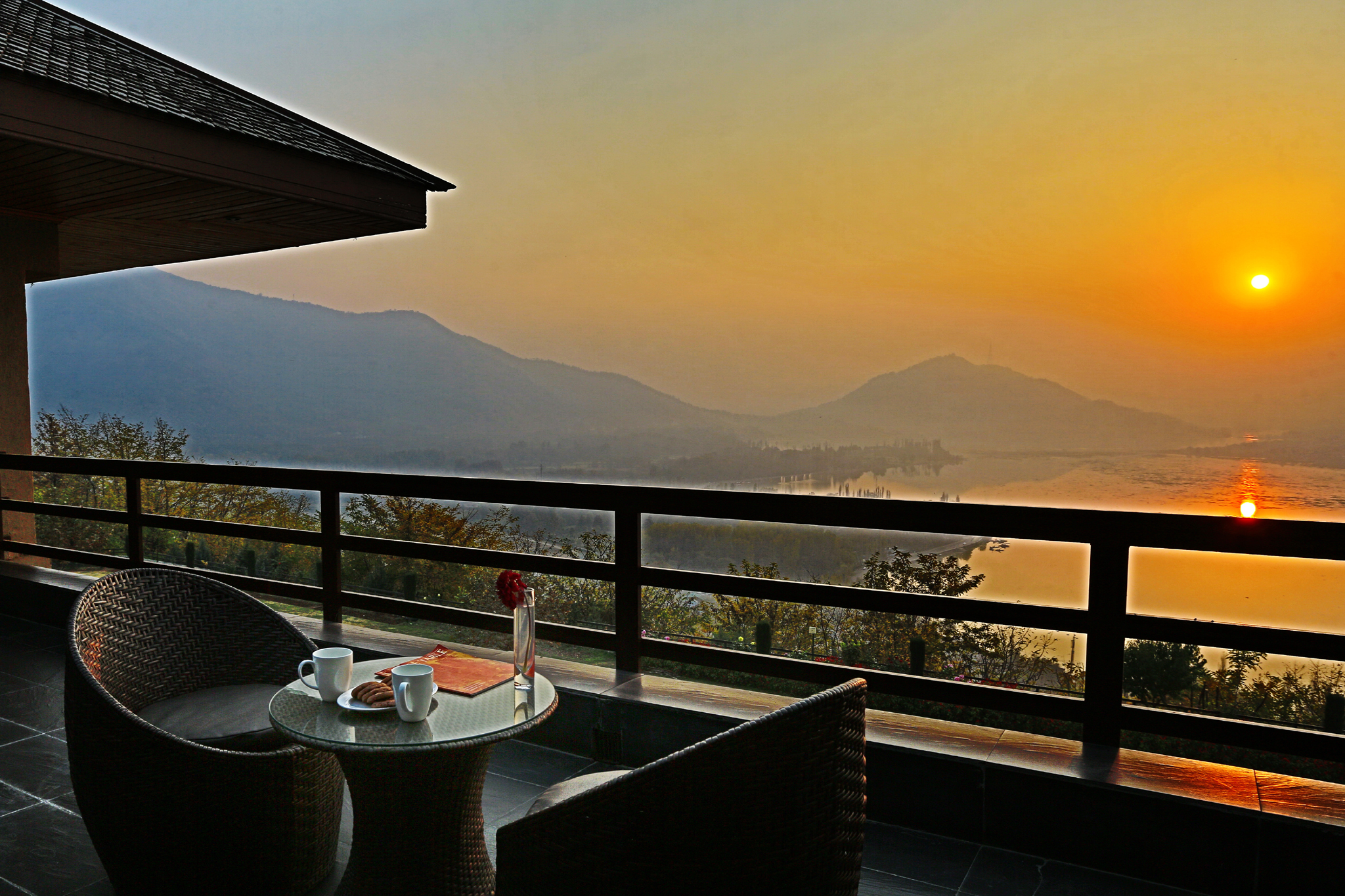 Wine and dine with a beautiful sunset - Bachelorette trip Destinations in India
