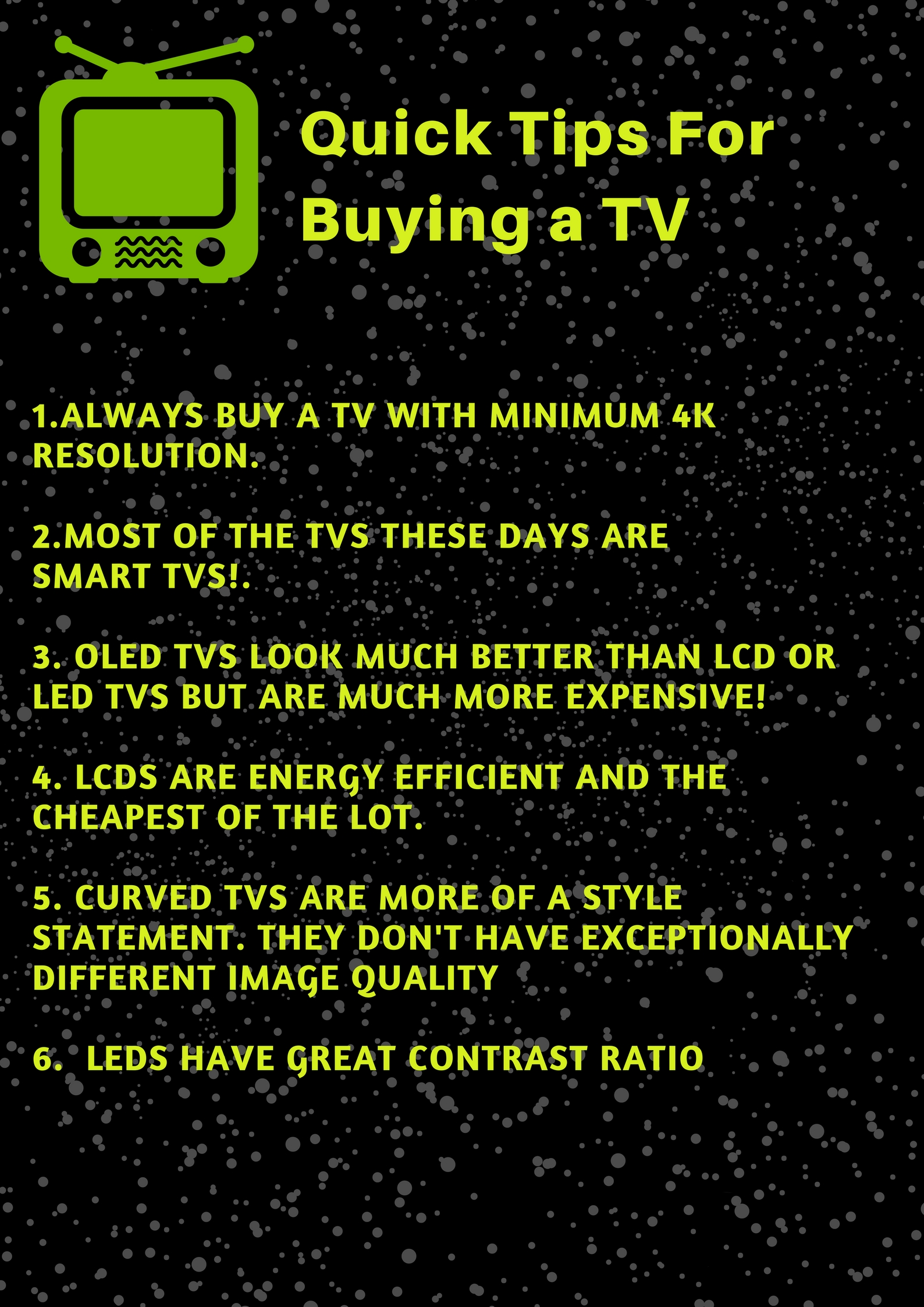 Quick tips for TV