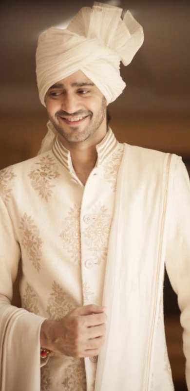Gaurav Kapoor wedding - white wedding turban for groom