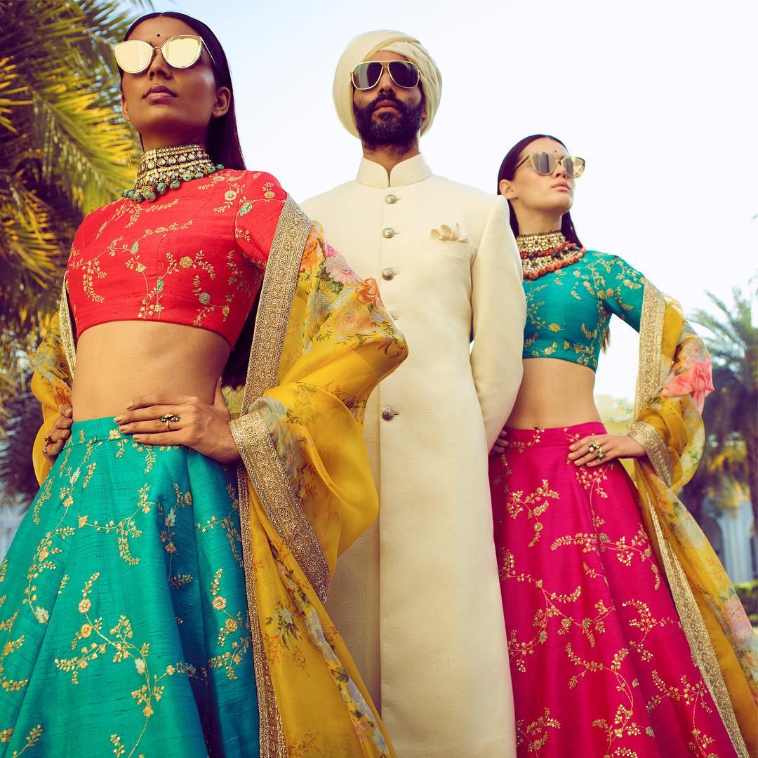 wedding dresses- sabyasachi lehenga