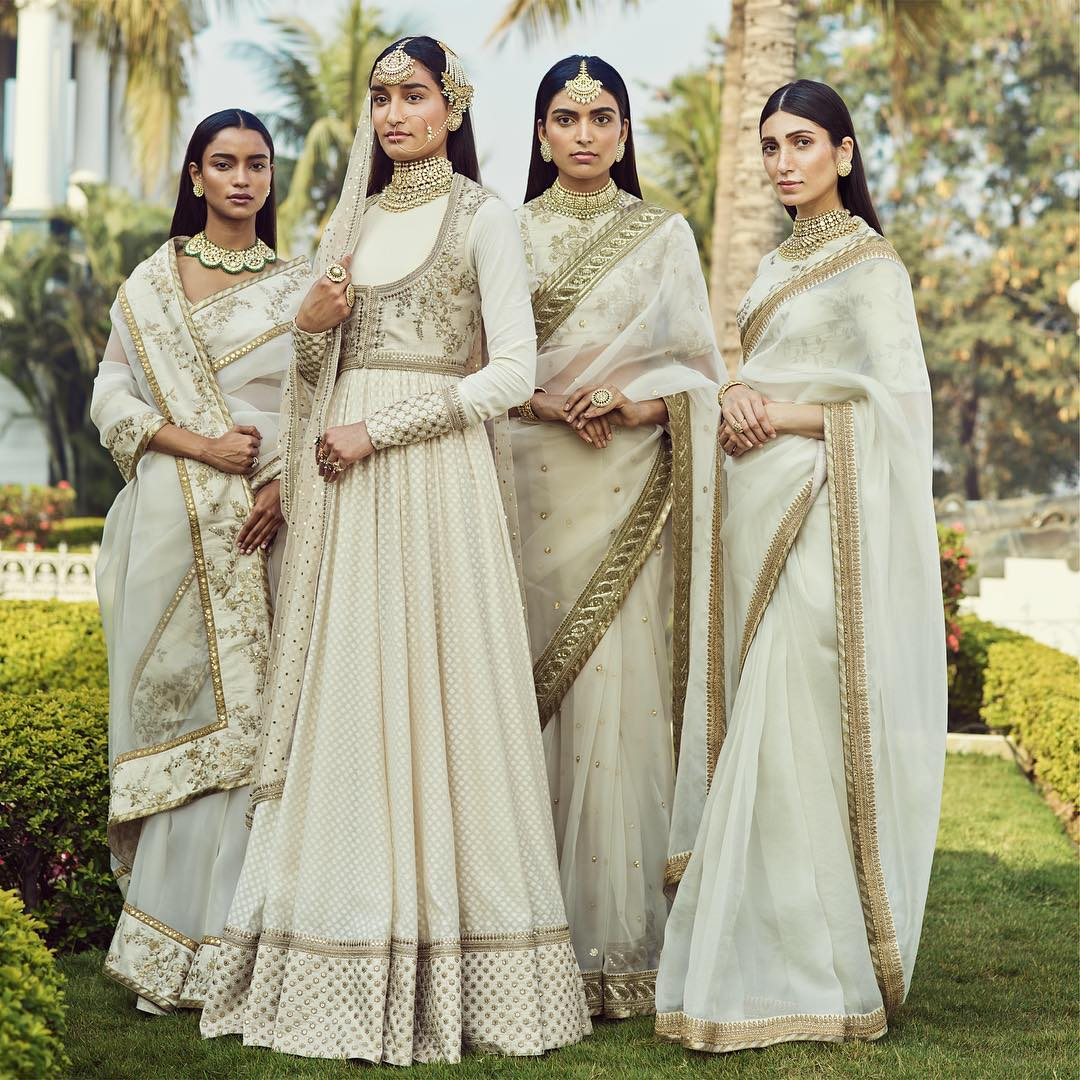 wedding dresses- white sabyasachi wedding dresses