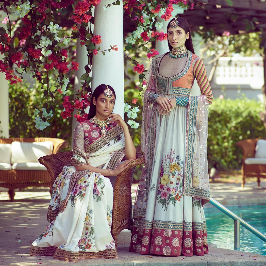 wedding dresses- floral sabyasachi wedding dresses
