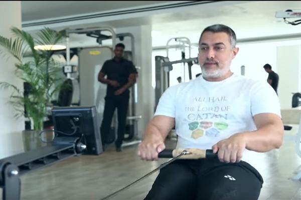 Aamir khan working out