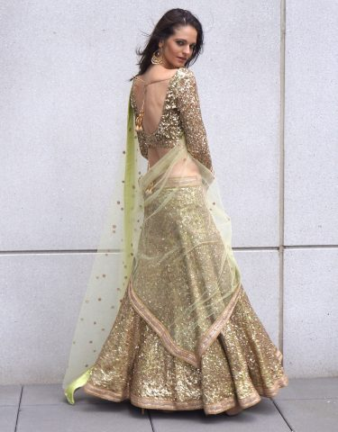 Wedding Dresses Mint Bridal Sequin Lehenga For Rent