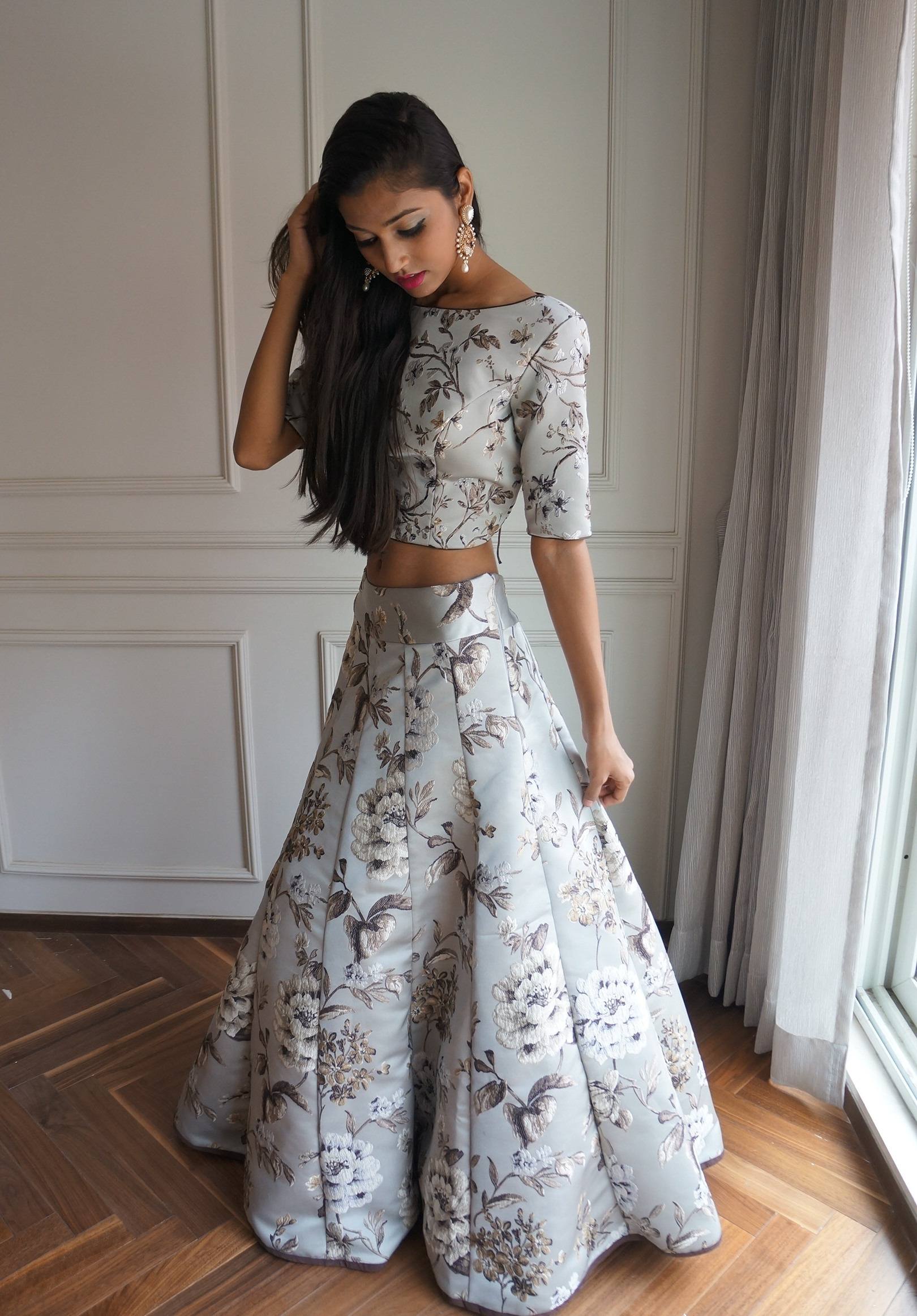 wedding dresses - vintage garden lehenga for rent