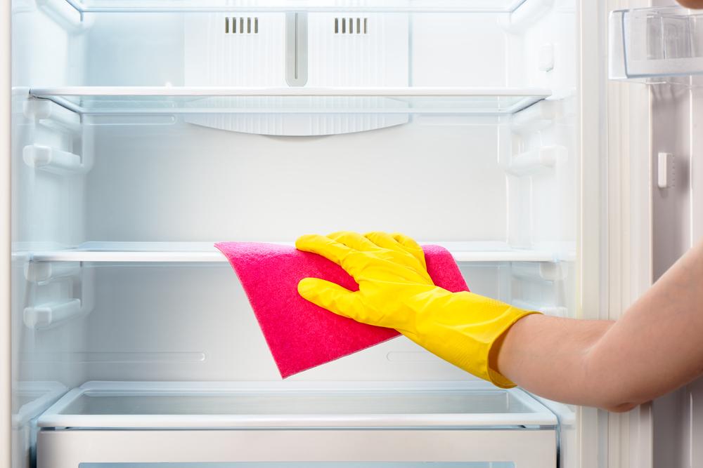 cleaning fridge interiors
