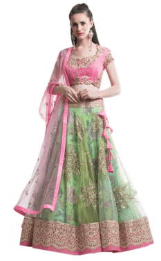 Rental Lehengas-urbanclap weddings blog-green lehengas