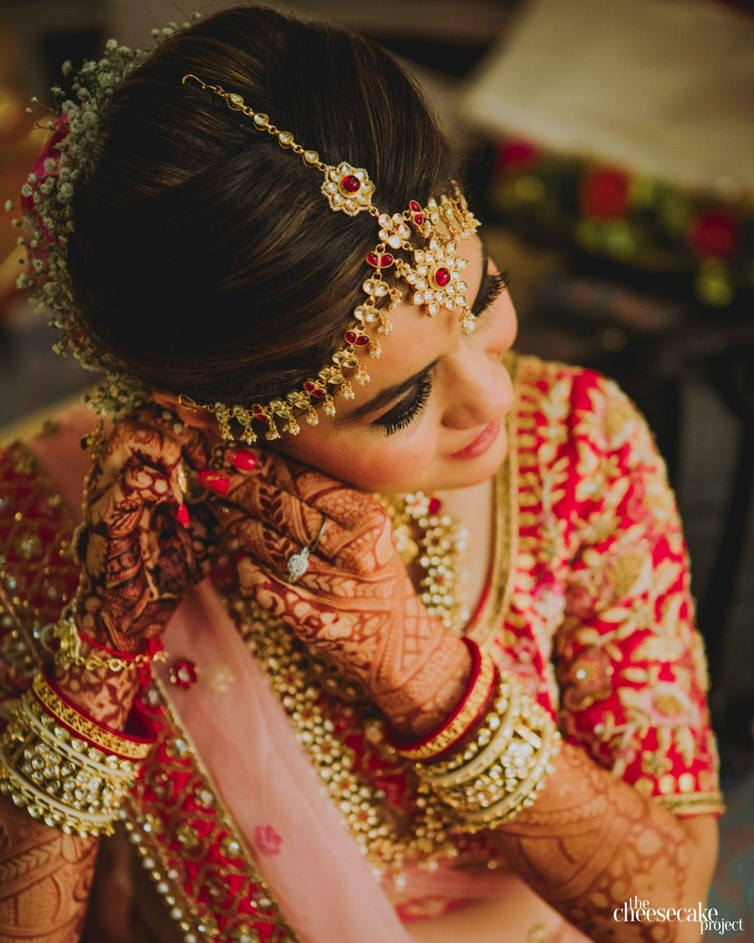 Real Fairytale Weddings Silver Spring Md: 40+ Best Bridal Matha Patti Designs That Real Brides Wore