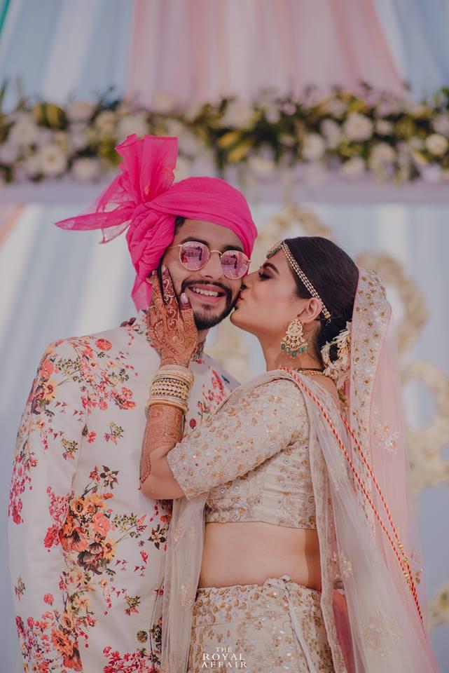 pink pheta for wedding