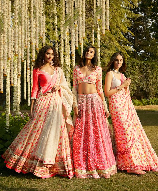 Pink color wedding dresses- Abhinav Mishra, Shahpur Jat Boutiques.
