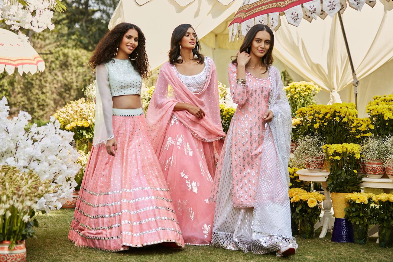 Pink Bridal Dresses- Abhinav Mishra, Shahpur Jat Boutiques.