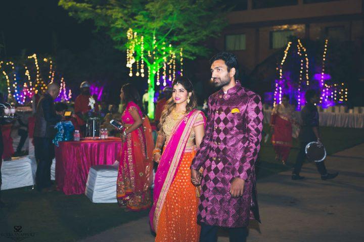Bride and Groom at Sangeet