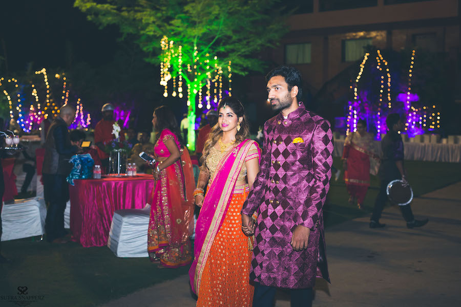 Bride and Groom at Sangeet