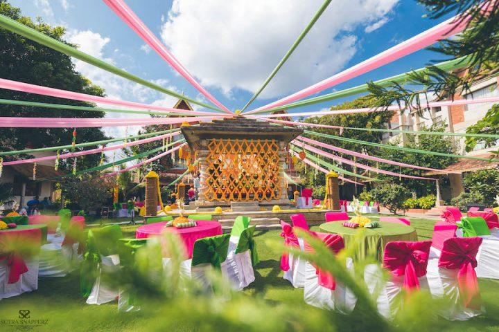 Outdoor theme wedding decor
