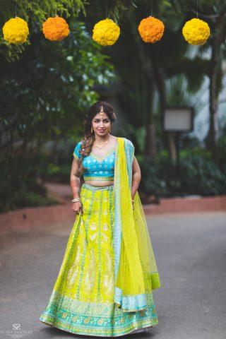 Bridal Mehndi Lehnga