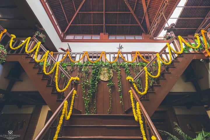 decor with Marigold flower