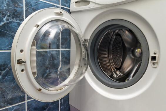 washing machine with door open