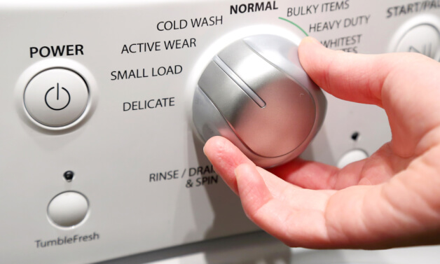 washing machine settings panel