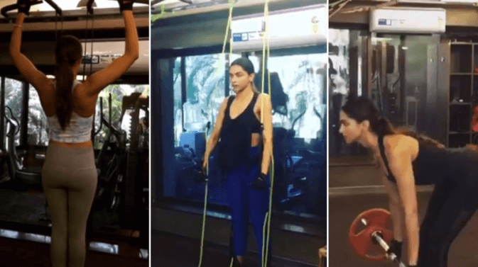 deepika working out