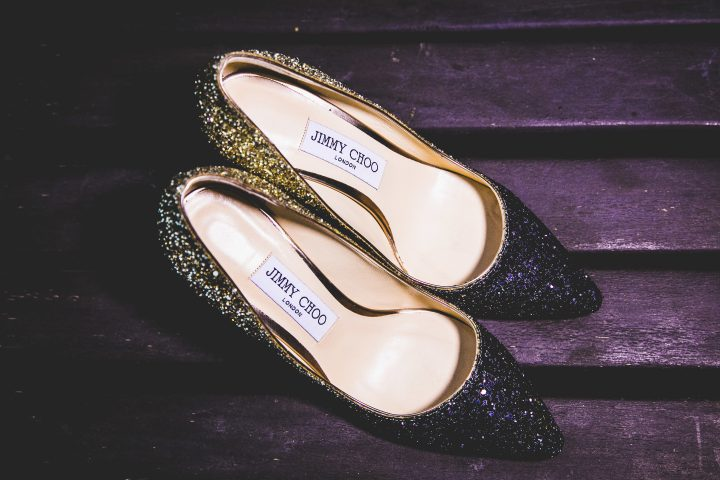 Jimmy Choo bridal heels - Shreya Kalra - Indian blogger wedding