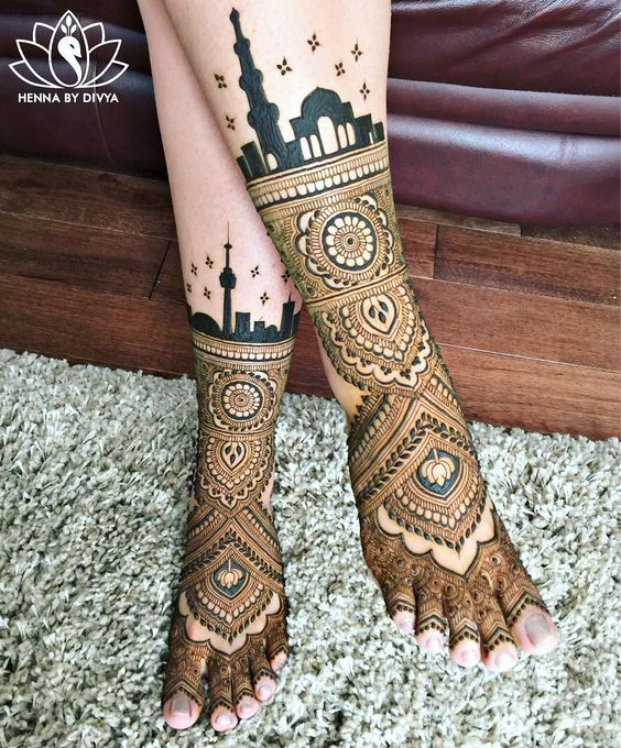 30+ Beautiful Feet \u0026 Leg Mehendi Designs for the 2018 Bride