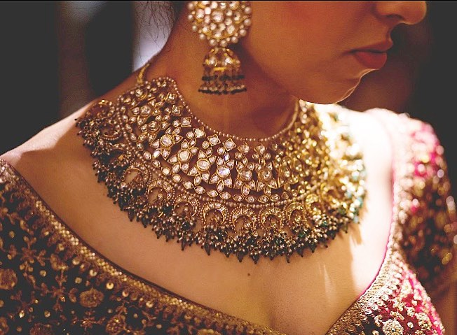 Collar Necklace for Indian Brides- Bridal Jewellery