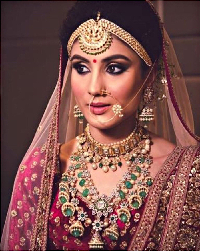 Raani Haar with danglers- Jewellery for Indian Brides